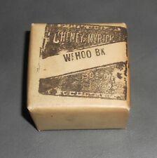 c1930 Antique Sealed Medicine Package Wahoo Bark Cheney & Myrick Boston MA Full