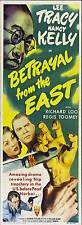 BETRAYAL FROM THE EAST Movie POSTER 14x36 Insert Lee Tracy Nancy Kelly Richard
