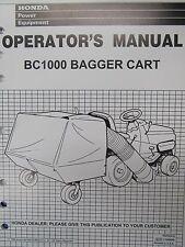 Honda Power Equipment Operator's manual for Bagger Cart BC1000