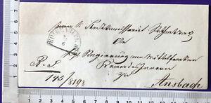 Bayern Vorphila Cover Brief ohne Inhalt HKR  Rothenburg / Ansbach