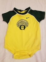 Nike Team University Of Oregon Ducks One Piece Baby Outfit 6-9 Months Infant