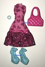 Monster High Ghoul's Beast Pet Draculaura Doll Outfit Clothes Dress & Shoes NEW