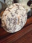 Grey White Vtg Spatter Ware Lid Stoneware Pottery Hanger Gorgeous