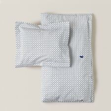 Baby Toddler Cot Duvet/Doona Set 100% Cotton Garbo & Friends Cupola Design Navy