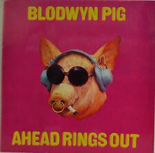 "BLODWYN PIG AHEAD ANILLOS OUT ALEMÁN PRESS PINK ISLAND 849301 UY 12"" LPW 923"