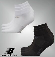 3 Pack Unisex New Balance Knitted Logo Ventilation 3/4 Socks Sizes from 3 to 12