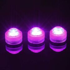12-Bright Submersible Candle LED Floral Tea Light Vase Party Wedding Waterproof