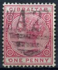 Gibraltar 1898 SG#40, 1d #D17993 usado carmín QV
