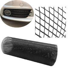 "Universal Cuttable 40""x13"" Black Aluminium Racing Grille Mesh Net Rhombus Style"