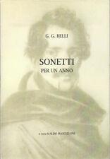 2010 – BELLI, SONETTI PER UN ANNO – LETTERATURA ITALIANA POESIA ROMA DIALETTO