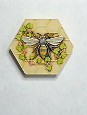 Harmony Kingdom art Neil Eyre Designs Honeycomb Honey Bee Flower vine magnet v1