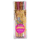 Top Model Metallic Gel Pen set by Depesche 8868 Sent First Class Post