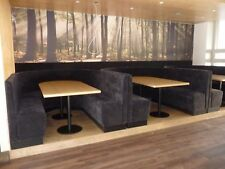 commercial seating booth bench seating restaurant bar cafe barber shop