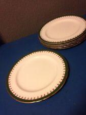 6x Aynsley laurette green gilt art deco 9.25 inch Dinner Lunch sandwich plates