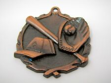 Vintage Collectible Sports Medal: Baseball Mitt Ball Bat Design (Some Oxidation)