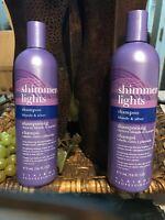 2 Clairol Shimmer Lights Shampoo Color-Enhancing 16 oz  Blonde Silver Hair
