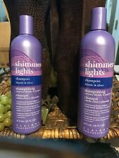 2 Clairol Shimmer Lights Shampoo Color-Enhancing 16 Oz (36oz) Blonde Silver Hair