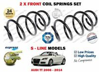 FOR AUDI TT S LINE 1.8 2.0 TFSI 3.2 V6 2006-2014 NEW 2X FRONT COIL SPRINGS SET