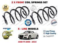 FOR AUDI TT S LINE 1.8 2.0 TFSI 3.2 V6 2006-2014 NEW 2X FRONT COIL SPRINGS SET