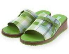 NWT Gymboree Dandelion Wishes Wedg Platform Sandals Green Plaid 9