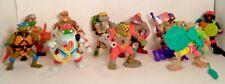 Vintage Playmates TMNT Figure Lot of 10 Teenage Mutant Ninja Turtles Accessories