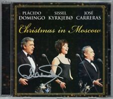Placido DOMINGO Signiert CHRISTMAS IN MOSCOW Jose CARRERAS, Diddel KYRKJEBO CD