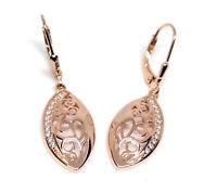 Echt 925 Sterling Silber Ohrringe Zirkonia crystal rosegold Nr 255