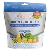 Bluapple With Activated Carbon OneYear Refill Kit Keeps Produce Fresh Longer NEW