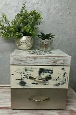 Shabby Chic MDF Chest of Drawers Bedside Table Bedroom, Cabinet Storage