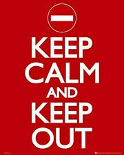 Keep Calm and Keep Out - Mini Poster 40cm x 50cm (new & sealed)