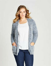 Hand-wash Only Textured Plus Size Jumpers & Cardigans for Women