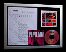PEARL JAM Even Flow GALLERY QUALITY CD MUSIC FRAMED DISPLAY+EXPRESS GLOBAL SHIP