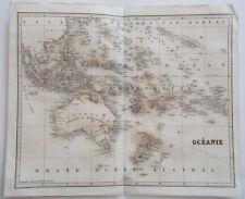 1838 ORIGINAL MAP OF OCEANIA AUSTRALIA NEW HOLLAND AUSTRALASIA PACIFIC ISLANDS