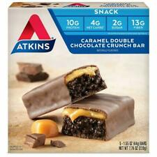 Atkins Snack Bar, Caramel Double Chocolate Crunch, Keto Friendly, 7.76 Ounce (Pa