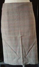 French Connection Gray Multicolor Women's Lined Plaid Skirt Bottom Size 11