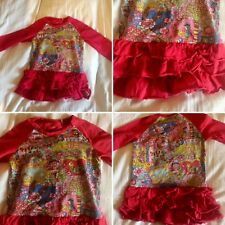 Oilily Red Fantasy World Strech Dress Christmas 18-24 Worn Once Super Quality!