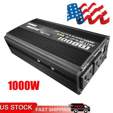 Car Power Inverter 1000W DC 12V To AC 110V 2 AC Outlets 2 USB Solar Converter US