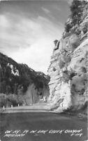 1940s Flagstaff Arizona Oak Creek Canyon US 89 RPPC real photo 6459 Cook
