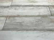 Modern White Matt Wood Effect Shower 15X90 Porcelain Backsplash Wall Floor Tile