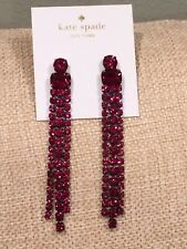 NWT Kate Spade Crystal Fringe Drop Earrings - Fuchsia