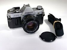 Canon AE-1  SLR 35mm film camera with FD 50mm f/1.8 lens TESTED