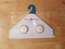 Lindsay Phillips Carmen One Size Gold Ivory Flip Flop Interchangeable Snap Set