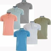 New Mens Patterned Printed Button Pocket Cotton Short Sleeve Polo T Shirt Casual