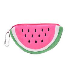 Watermelon Plush Stationery Pencil case Pen Purse Bag Cosmetic Bag Pink BDAU