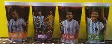 4 plastic cups  copa america Argentina players