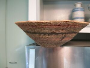 NATIVE AMERICAN INDIAN HAND WOVEN BASKET