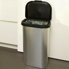 More details for kitchen bin plastic lift top dustbin recycling waste rubbish 50l in/outdoors
