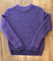 Kate Spade Saturday Women's Sweater Wool Alpaca Plum Purple Soft $140 XS S