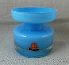 Vase en verre doublé bleu Design INGRID STUDIO 1960's 1970's