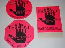 The Cult 3 Unused Backstage Ticket Passes Ceremonial Stomp pass Ian Astbury pi